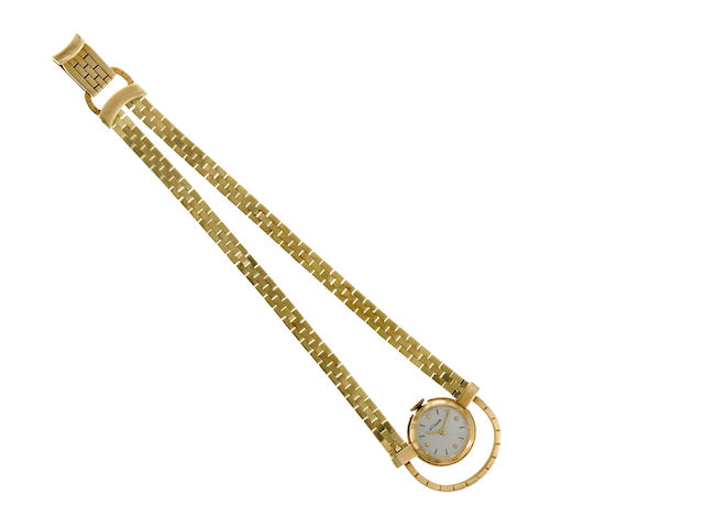 A fourteen karat gold bracelet wristwatch, LeCoultre