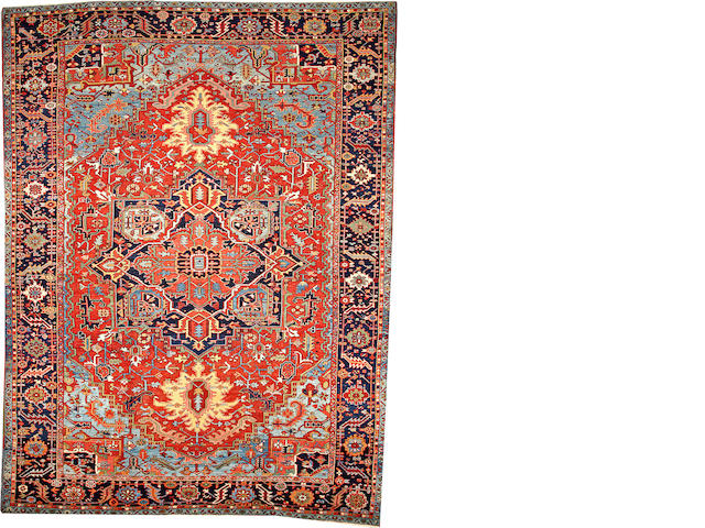 A Heriz carpet  Northwest Persia size approximately 11ft. 7in. x 14ft. 9in.