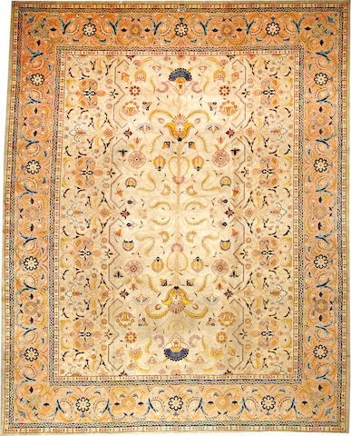 A Tabriz carpet Northwest Persia size approximately 10ft. x 12ft. 7in.