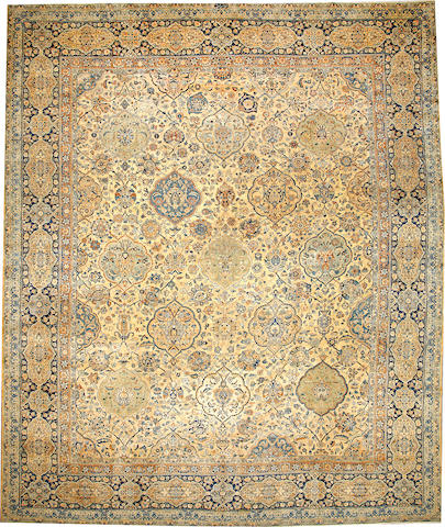 A Kerman carpet  South Central Persia size approximately 12ft. 7in. x 15ft. 3in.