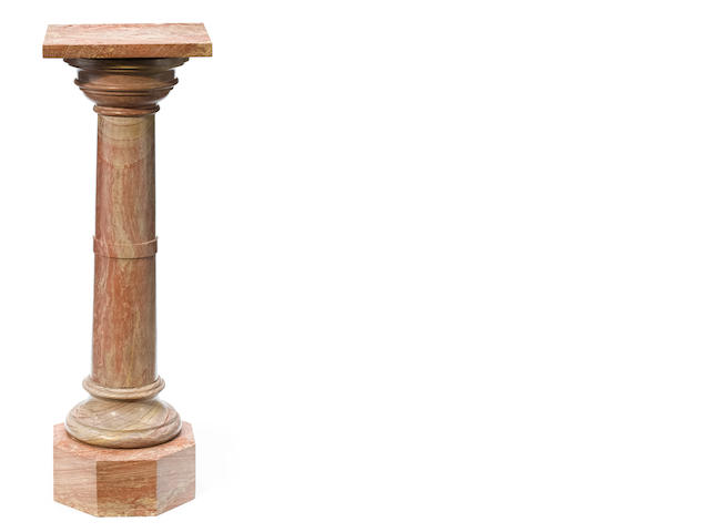 A Neoclassical style carved marble pedestal
