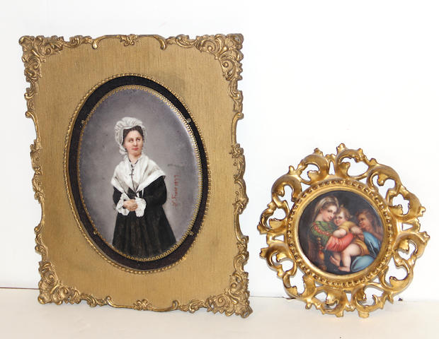 Two Continental porcelain plaques fourth quarter 19th century