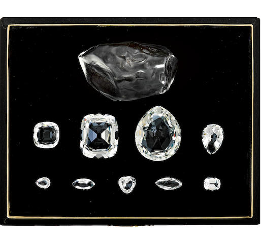 A boxed set of historic Cullinan diamonds