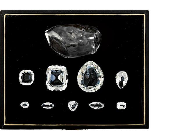 The boxed set of historic Cullinan Diamonds
