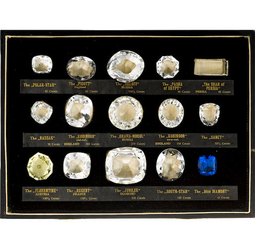 A boxed set of historical diamonds
