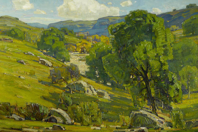 William Wendt (American, 1865-1946) Claremont oaks 24 1/2 x 36 1/2in