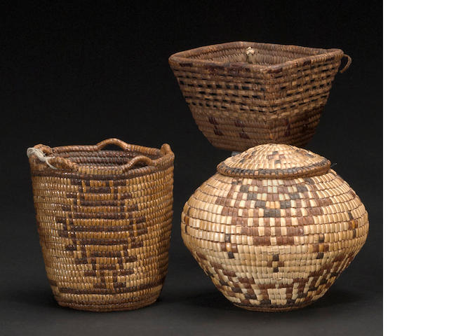 Three Northwest baskets