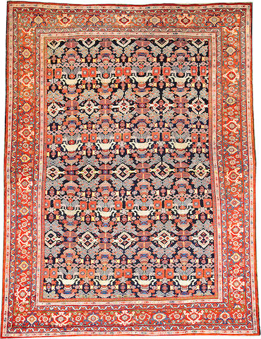 A Mahal carpet  Central Persia size approximately 9ft. x 11ft. 9in.