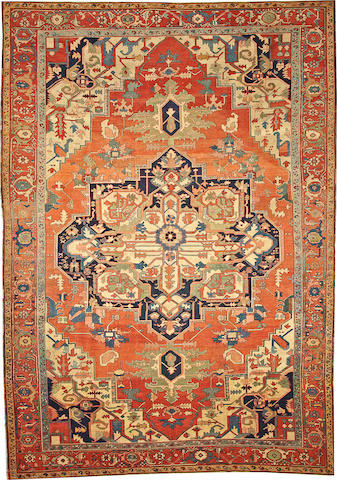 A Serapi carpet Northeast Persia size approximately 10ft. x 14ft. 3in.