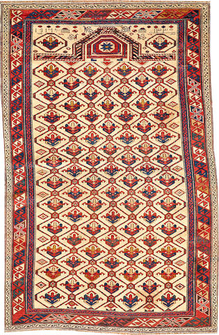 A Shirvan rug Caucasus size approximately 3ft. 4in. x 5ft. 6in.