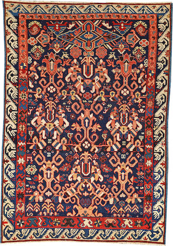 A Caucasian rug Caucasus size approximately 3ft. 8in. x 5ft. 2in.
