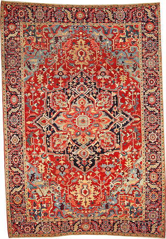 A Serapi carpet  Northwest Persia size approximately 9ft. 1in. x 13ft. 3in.