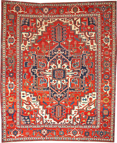 A Serapi carpet  Northwest Persia size approximately 12ft. 2in. x 10ft. 2in.