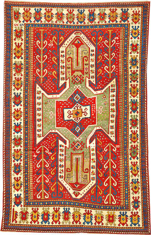 A Swan Kazak rug Caucasus size approximately 5ft. 8in. x 8ft. 8in.