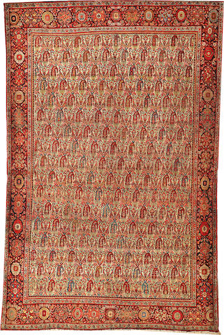 A Sarouk Fereghan rug  Central Persia size approximately 4ft. 2in. x 6ft. 7in.