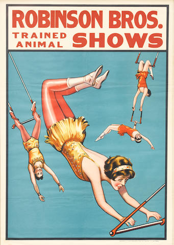 Artist Unknown (20th century) <BR />Robinson Bros. Trained Animal Shows