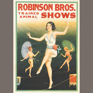 Artist Unknown (20th century) . Robinson Bros. Trained Animal Shows (Dancers)