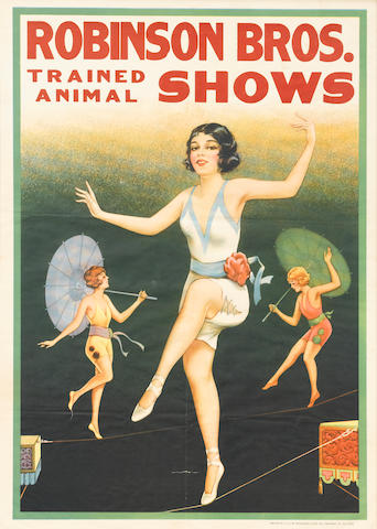 Artist Unknown (20th century) <BR />Robinson Bros. Trained Animal Shows (Dancers)
