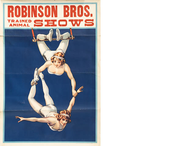 Artist Unknown (20th century) <BR />Robinson Bros. Trained Animal Shows (Highwire Acrobats)