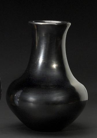 A San Ildefonso blackware vase