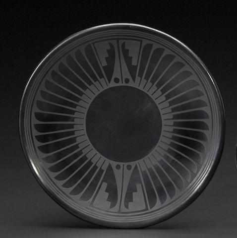 A San Ildefonso blackware plate