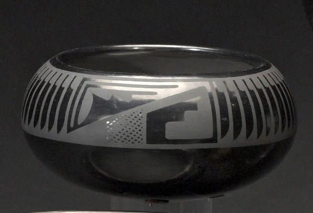 A San Ildefonso blackware bowl