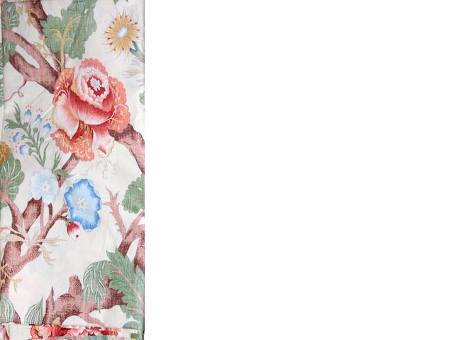 A group of four Sister Parish floral chintz bolts of fabric