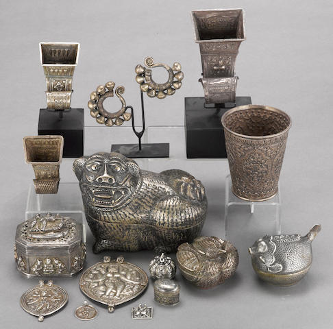 A group of Asian silver