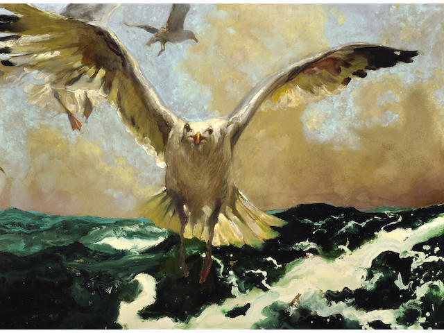 Jamie Wyeth (American, born 1946) The Warning, 2007 34 x 48in (86.3 x 122.0cm)