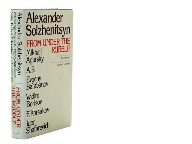 SOLZHENITSYN, ALEXANDER, et al. From Under the Rubble.   Boston: Little, Brown, 1975.