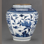 An Arita porcelain ovoid jar<BR />Circa 1680