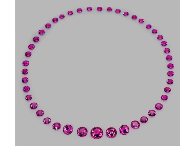 Hot Pink Tourmaline Layout