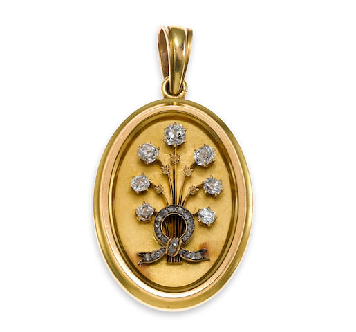 A diamond and eighteen karat gold locket, Tiffany & Co.