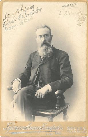 RIMSKY-KORSAKOV, NIKOLAI ANDREEVICH. 1844-1908.