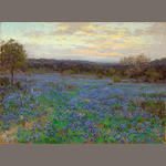 Julian Onderdonk (1882-1922) Field of bluebonnets at sunset, 1919-1920 30 x 40in