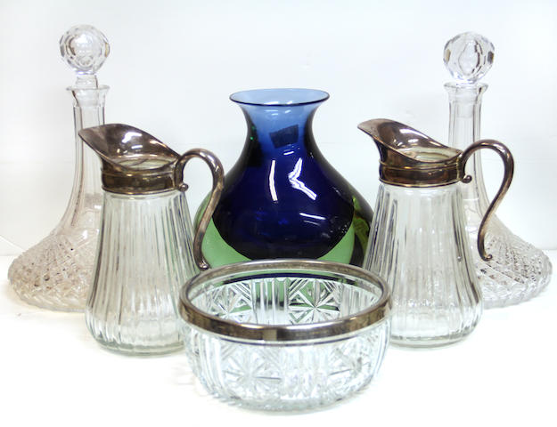 An assembled group of glass 20th century