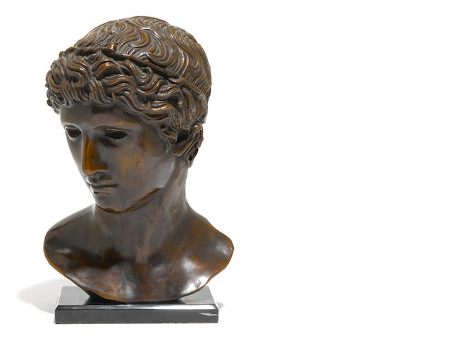 An Italian patinated bronze bust <BR />20th century