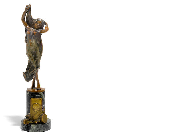 An Austrian cold painted bronze figure <BR />after a model by Carl Kauba (1865-1922)<BR />early 20th century