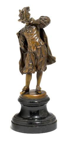 A French patinated bronze figure <BR />early 20th century