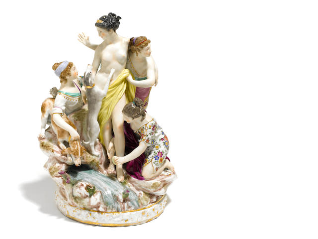 A Continental porcelain figural group <BR />late 19th/early 20th century