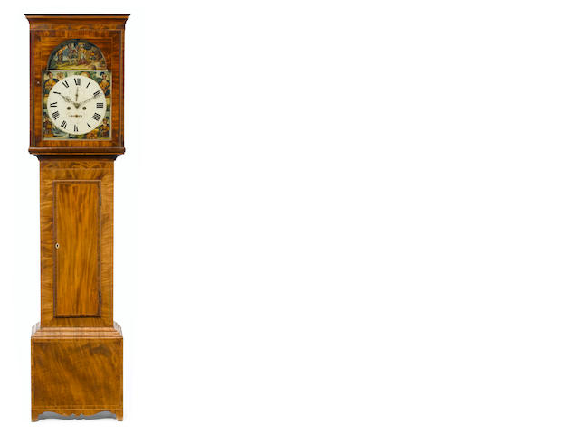 A Scottish Late George III inlaid mahogany tallcase clock <BR />Circa 1800-1820