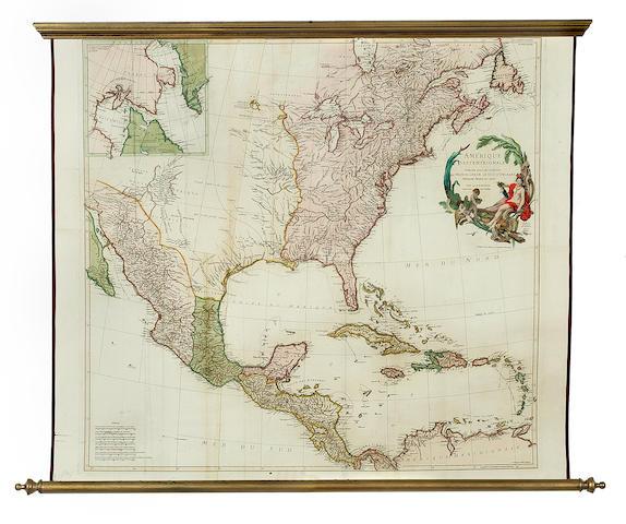 ANVILLE, JEAN-BAPTISTE D'. 1697-1782. Amerique Septentrionale.... WITH: Amerique Meridionale.... Paris: 1746-1748.