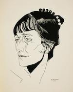 "ANNENKOV, YURI. 1889-1974. Portrety. [Portraits.] Petersburg: ""Petropolis,"" 1922.<BR />"