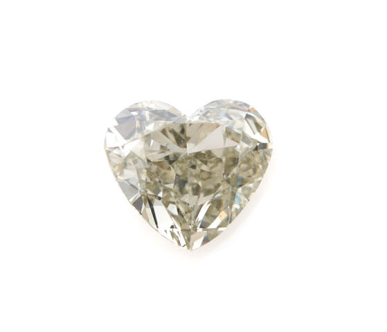An unmounted heart shaped brilliant-cut diamond