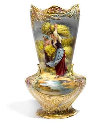A large Royal Bonn glazed earthenware vase <BR />early 20th century