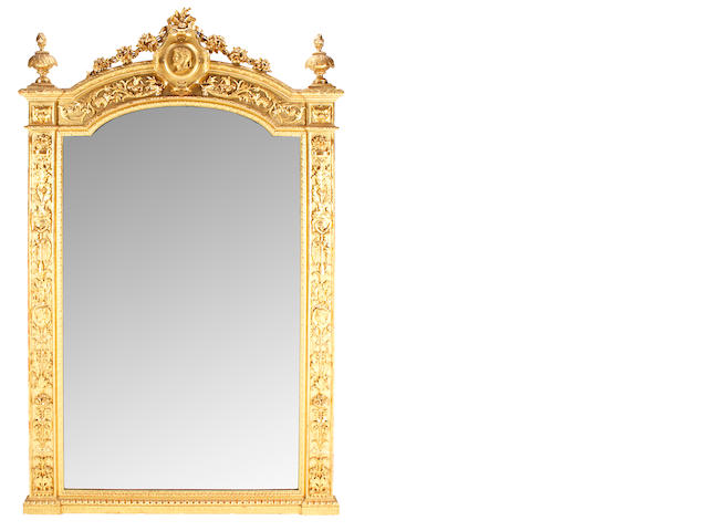 A good quality Napoleon III carved giltwood mirror <BR />third quarter 19th century