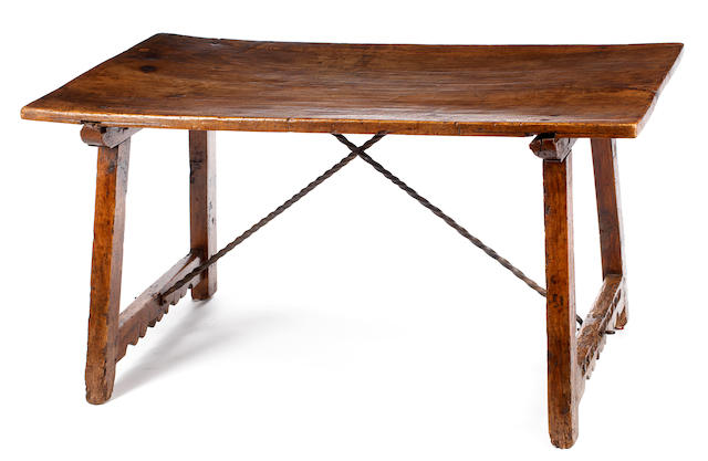 An Italian Baroque walnut library table <BR />late 17th/early 18th century