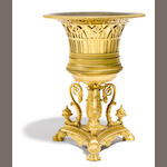 A Napoleon III gilt bronze urn <BR />third quarter 19th century