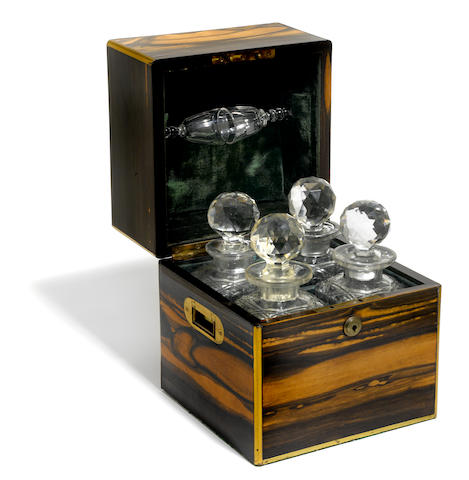 An George IV brass bound coromandel decanter box <BR />second quarter 19th century