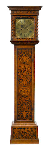 A William and Mary marquetry walnut tallcase clock